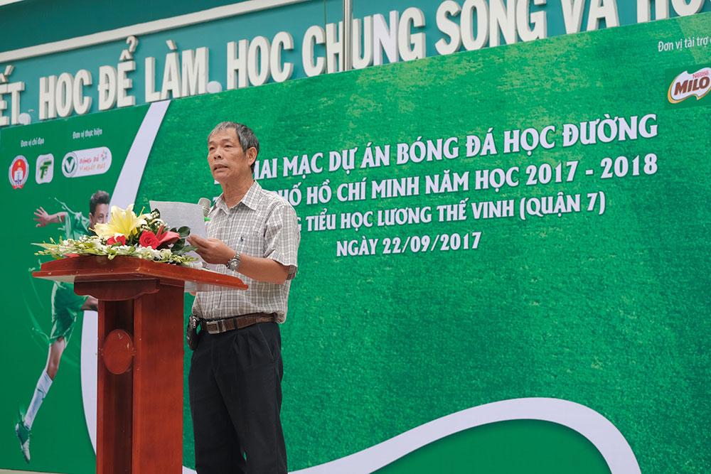 KHỞI ĐỘNG FESTIVAL BÓNG ĐÁ HỌC ĐƯỜNG TP. HỒ CHÍ MINH NĂM HỌC 2017 - 2018